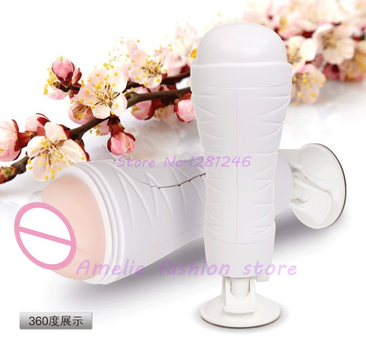 Big Hands Free Male Masturbators Cup Silicone Artificial Pussy Realistic Vagina Powerful Suction Cup Adult Sex Products For Men 6