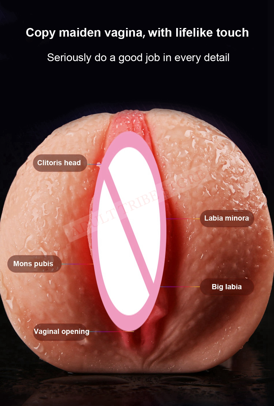 Realistic Oral 3D Deep Throat with Tongue Teeth Maiden Artificial Vagina Male Masturbators Pocket Pussy Oral Sex Toys for Men 16
