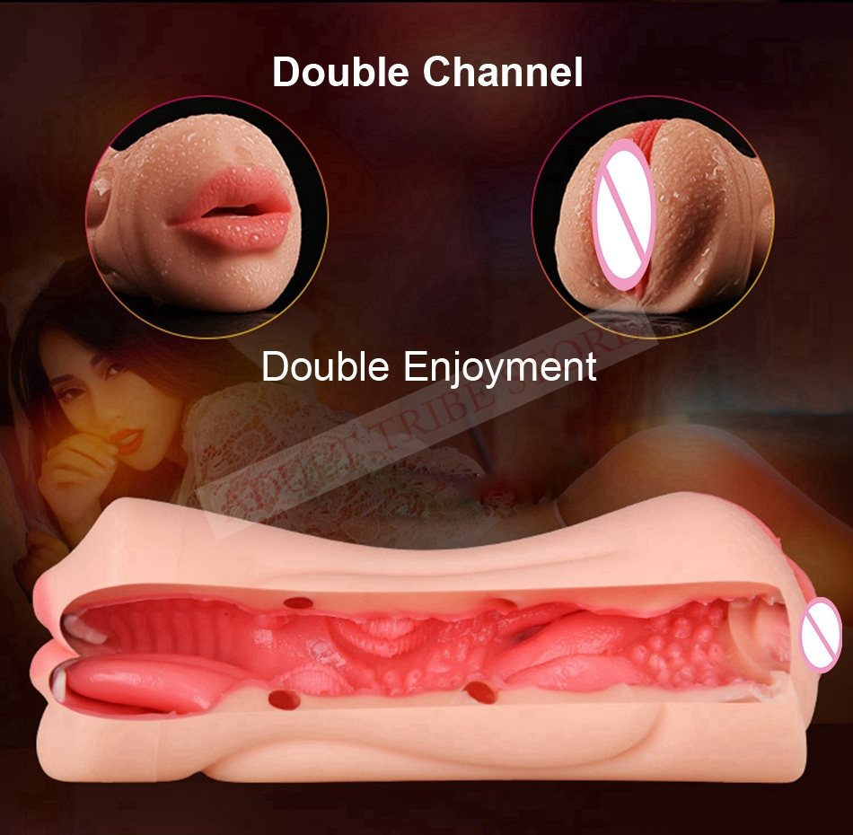 Realistic Oral 3D Deep Throat with Tongue Teeth Maiden Artificial Vagina Male Masturbators Pocket Pussy Oral Sex Toys for Men 13